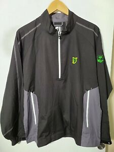 1 NWT FOOTJOY MEN'S WINDSHIRT, SIZE: MEDIUM, COLOR: BLACK/GRAY (J63)