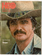 "HBO Cable TV Guide, September,1979, ""Hooper"", Burt Reynolds, Free Shipping"