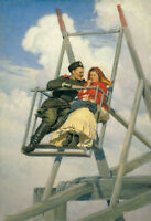 """perfect oil painting handpainted on canvas """"On the swing """"@N13849"""