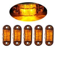 5 x LED Side Marker Amber Clearance Trailer Lights Lamp Indicator Truck 10-30V