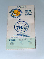 Golden State Warriors Philadelphia 76ers Oakland Coliseum Ticket 1987 Barkley