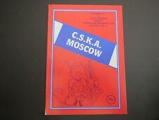 Aldershot V  CSKA Moscow Friendly   1990/1
