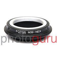 Anello adattatore obiettivi ottiche M39 su mirrorless SONY E-MOUNT NEX ALPHA