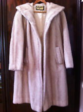 STYLISH VINTAGE MINK IMITATION BEIGE FULLY LINED FAUX FUR COAT SIZE: 10- 12 NN