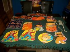 Vintage Holiday Paper Decoration signs Halloween
