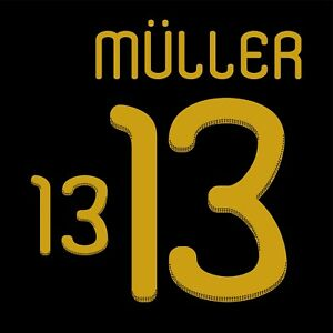 Muller 13. Germany Away football shirt 2010 - 2011 FLEX NAMESET NAME SET PRINT