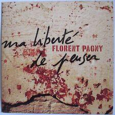 "FLORENT PAGNY CD SINGLE PROMO ""MA LIBERTÉ DE PENSER"""