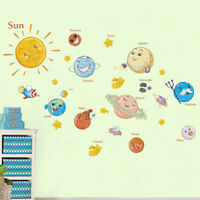 education solar system planets wall sticker space universe kid room decor_js