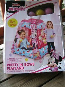 Disney Junior Minnie Pretty Bows In Playland 20 Soft Flex Balls New Damaged Box