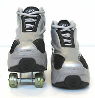 Quad KICK ROLLER Skates retractable WALKnROLL in/outdoor ORIGINAL BNIB SLV/GREY