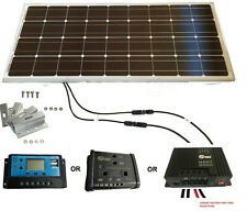 100W, 120W, 150W, 200W Kit de panel solar, controlador 20A Lcd Dual Soporte Caravana