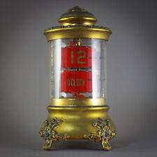 ⏰ 1905 ANSONIA ART NOUVEAU PLATO JUMP HOUR FLIP DIGITAL ANTIQUE DESK CLOCK 🇺🇸