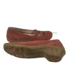 MERRELL GABRIELLA LEATHER SHOES SUEDE MARY JANE SLIP WOMEN S WEDGE RED 7