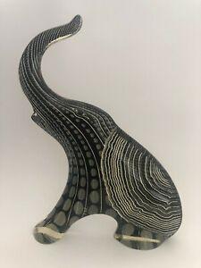 "Abraham Palatnik Acrylic Lucite 9"" Art Elephant Sculpture Figurine Mid Century"