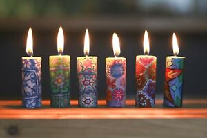 Colourful mini candles - Fairtrade and ethical candle set