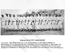 1948 KANSAS CITY MONARCHS NEGRO LEAGUE BASEBALL 8X10 TEAM PHOTO