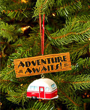 "CAMPER HANGING ORNAMENT ~ ""ADVENTURE AWAITS"" ~ VERY CUTE~ NEW  ~ GIFT IDEA"