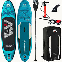 Aqua Marina Inflatable Vapor SUP iSUP Stand Up Paddle Board Allround Surf SET