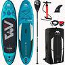 Aqua Marina Inflatable Vapor SUP iSUP Stand Up Paddle Board Allround Surf SET