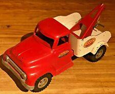 Vintage Tonka AAA Wrecker Truck, Red Boom, Dual Wheel, 1955