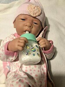 "PERFECT BABY GIRL!BERENGUER LIFELIKE REBORN PREEMIE 14"" PACIFIER BOTTLE ++"