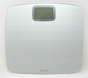 Taylor Glass Digital Scale 500LB Capacity Silver Sriated Finish