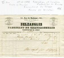 Paris VI ème 15 Rue Madame - Ustentiles de Cuisine - Comte de Nicholaï 1866