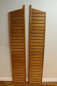 Vintage Retro - Pair of Staples Ladderax Teak Wood Ladders (Heals) 1960s / 70s