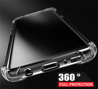 ShockProof 360 Silicone Clear Case For Samsung Galaxy S8 Plus S7 Edge Note 8 S9