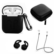 Silicone Strap Holder Case Cover w/ Carabiner For Apple AirPods Air Po