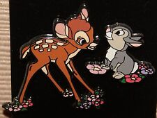 Disney Bambi and Thumper on Flowers 2 Pin Set