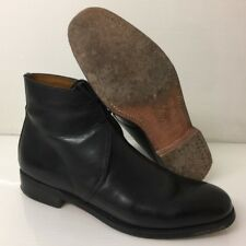 BLACK LEATHER GEORGE ANKLE DRESS BOOTS - Size: 9 Small , British Army Issue