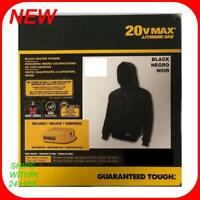 Dewalt-DCHJ067B-L 20V/12V Max Black Heated Hoodie (Hoodie Only) - Larg