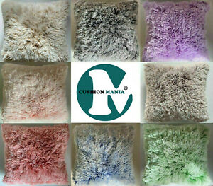 Super Soft Large Cuddly 2 TONE Faux Fur Fluffy Cushions or Covers