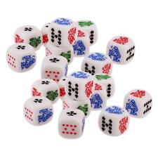 20pcs 12mm Six Sided D6 Poker Dice for Poker Card Casino Liar's Dice Games