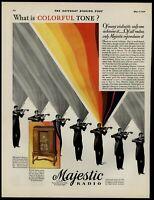 Majestic Radio Violin 1930 Color Saturday Evening Post Advertisement