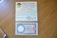 LIRE 50 LUPA CAPITOLINA BI 1 2 1944 RARISSIMA certificata BB/SPL SUBALPINA