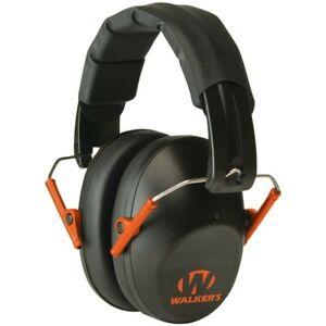Walkers GWP-FPM1-BKO PRO Low-Profile Black/Orange Gun Shooting Earmuffs Safety