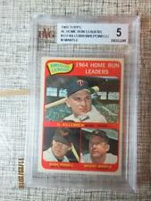 1965 topps mickey mantle/KILLEBREW/POWEL BGS5 EXCELLENT holder is perfect