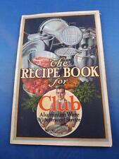 RECIPE BOOK CLUB ALUMINUM WARE PERSONAL SERVICE ADVERTISING POTS PANS VINTAGE