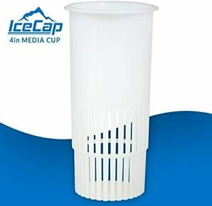 ICECAP 4 INCH FILTER MEDIA CUP - REPLACE FILTER SOCKS - USE WITH FLOSS OR MEDIA