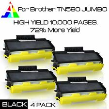 4PK TN580 JUMBO Toner for TN-580 Brother MFC-8460N 8660DN HL-5240 5270DN DCP-806