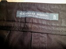 Stunning Alexander McQueen Black Cropped Cotton Trousers  IT 40 UK 8