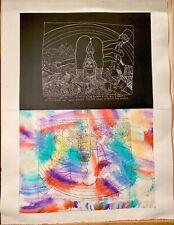 ISAIAH ZAGAR Etching Original Art Print Outsider Art Signed Large 1989 1/20