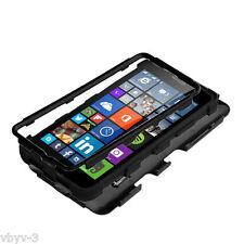 For Microsoft LUMIA 640 Hybrid Tuff Protective Dual Layer Hard Case Cover BLACK