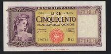 500 lire Italia ornata di spighe 20/03/1947 qFDS
