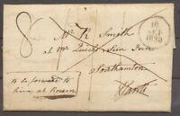 1830 Lettre du 2 Septembre 1830 de Weymouth à Southampton X1295
