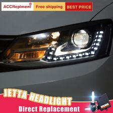 2Pcs For vw Jetta Headlights assembly Bi-xenon Lens Projector LED DRL 2012-2015