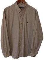 Men's Polo Ralph Lauren Black & White Checks Button Down Shirt XL L/S Classic
