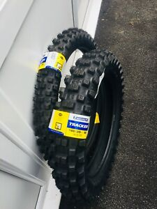 "Michelin Tracker Road Legal Enduro Tyres Pair 21"" 80/100 Front 18"" 140/80 Rear"